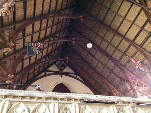 ファースト教会の天井