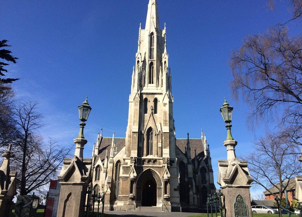 ファースト教会 尖塔が美しい