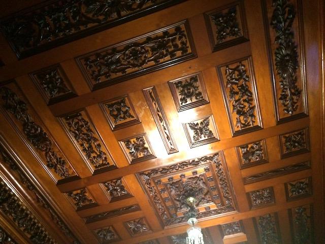ラーナック城ロビーの天井