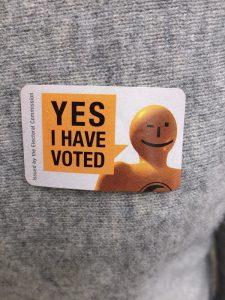 ニュージーランド選挙ステッカー