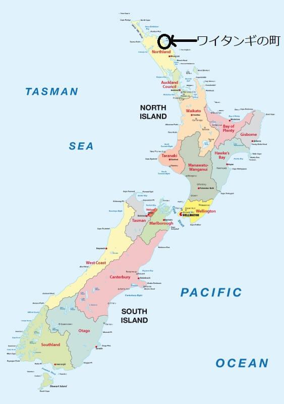 ニュージーランドワイタンギの場所