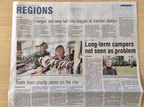 ダニーデン発行の新聞 オタゴデイリータイムス 地域のニュース