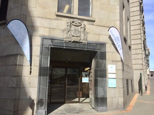 ディスティンクション ダニーデンホテル ジム外からの入り口