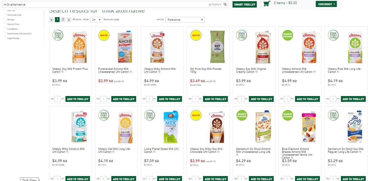 ニュージーランドのスーパーマーケットカウントダウンのオンラインショッピング