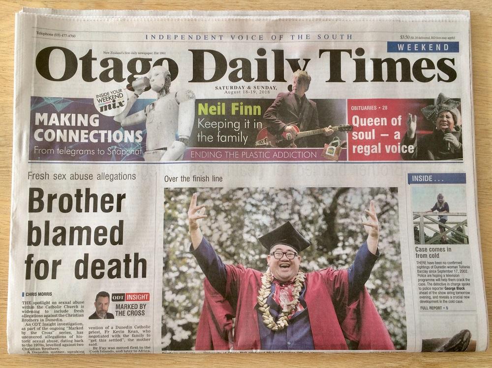 ダニーデン発行の新聞 オタゴデイリータイムス は充実の内容