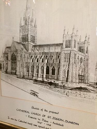セント ジョセフ 大聖堂 の設計スケッチ図
