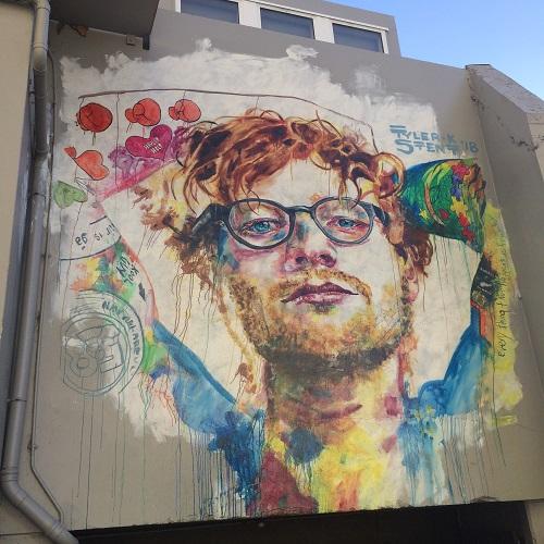 ダニーデンストリートアート エドシーラン Bath Street Dunedin