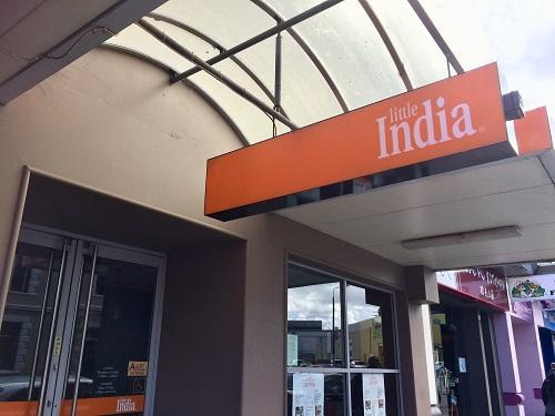 ダニーデンのインド料理リトルインディア看板