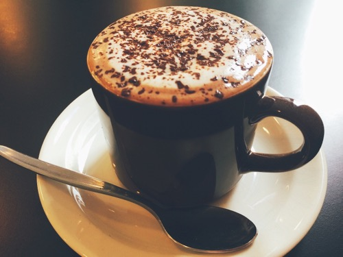 ダニーデンのカフェOcho ホットチョコレート