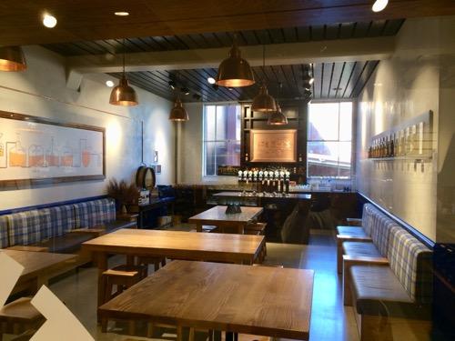 ダニーデンのスぺイツ醸造所 工場ツアーのテイスティングルーム