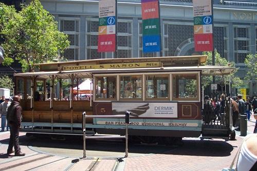 サンフランシスコのケーブルカー