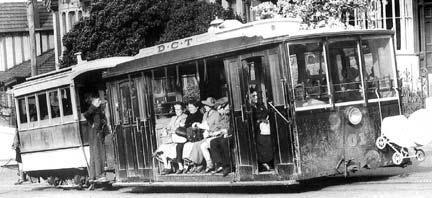 ダニーデンのケーブルカーが使われていた時代