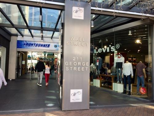 ダニーデンのビーガンカフェWatson's Eatery Wall Street Mallの入り口