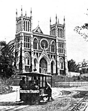 ダニーデンのケーブルカー セントジョセフ大聖堂
