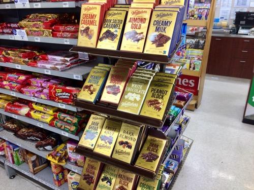 ニュージーランドのコンビニナイトアンドデイ  チョコレート