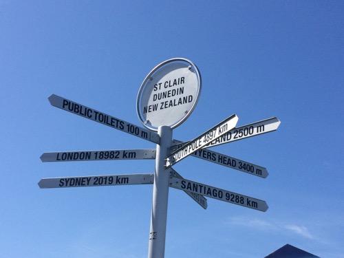 ダニーデン セントクレアビーチ 標識