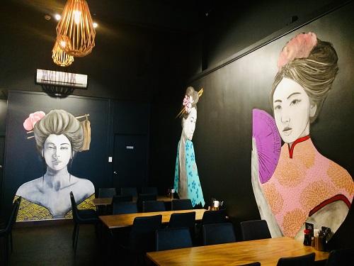ダニーデンの日本食レストランJizoの絵