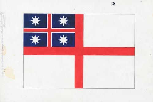 ニュージーランド国旗の歴史 最初の旗