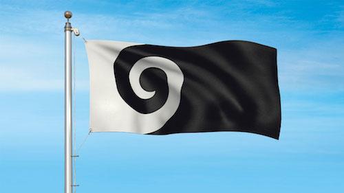 ニュージーランド新国旗案の候補 コル (黒)