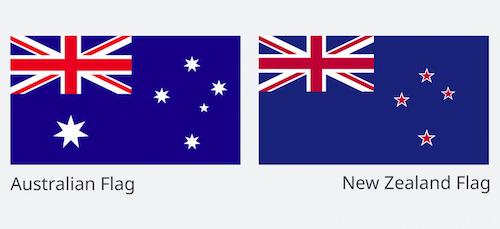 ニュージーランド国旗とオーストラリア国旗は似ている