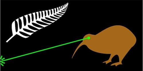 ニュージーランドの面白い国旗案キウイビーム