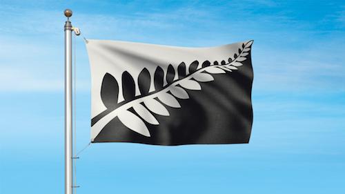 ニュージーランド新国旗案の候補 シルバーファーン (黒・白)