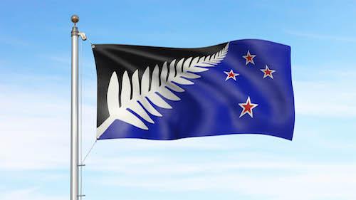 ニュージーランド新国旗案の候補 シルバーファーン (黒・白・青)
