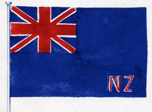 ニュージーランド国旗の歴史 青字にNZの文字
