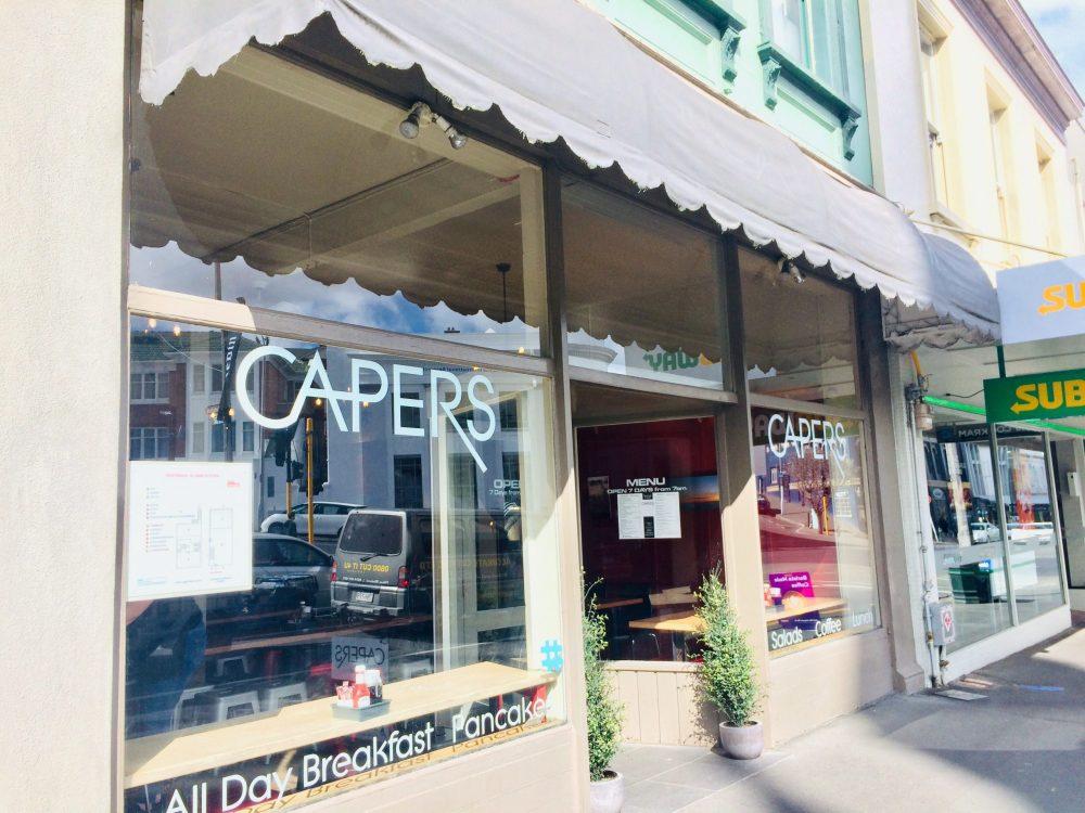 ダニーデンでパンケーキならCapersお店の外観