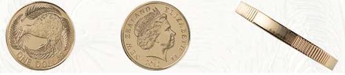 ニュージーランド1ドル硬貨