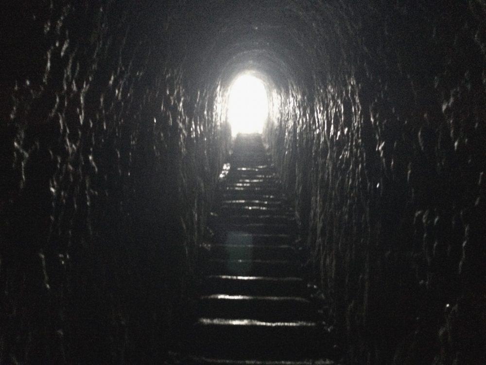 ダニーデントンネルビーチのトンネル
