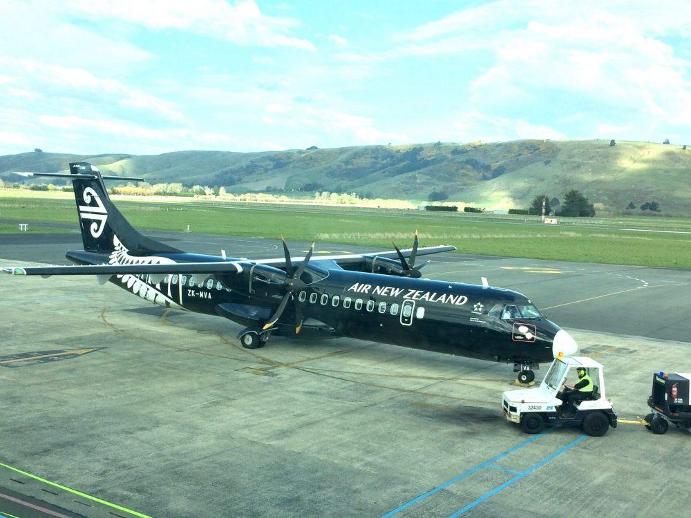 ニュージーランド航空のプロペラ機