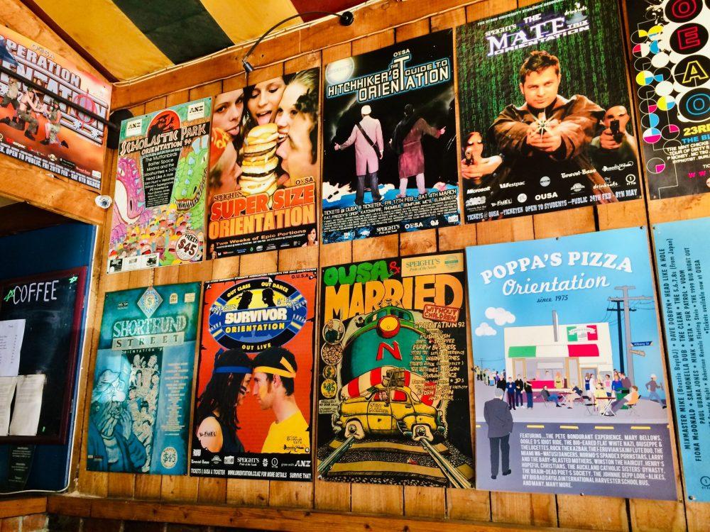 ダニーデンのポッパズピザの店内