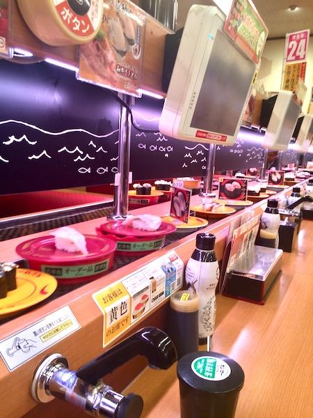 日本へ妄想一時帰国で回転寿司を堪能