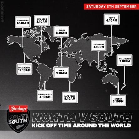 ニュージーランドオールブラックストライアルマッチ2020の世界キックオフ時間
