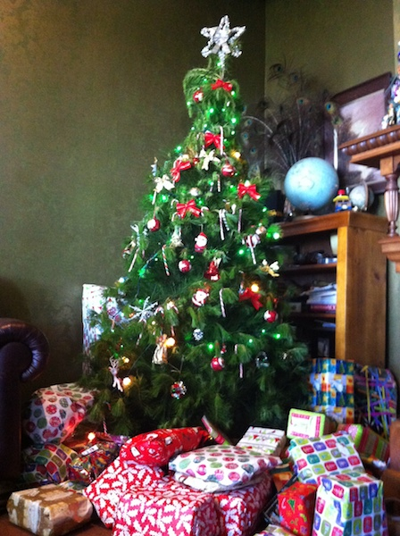 ニュージーランドのクリスマスプレゼントとツリー