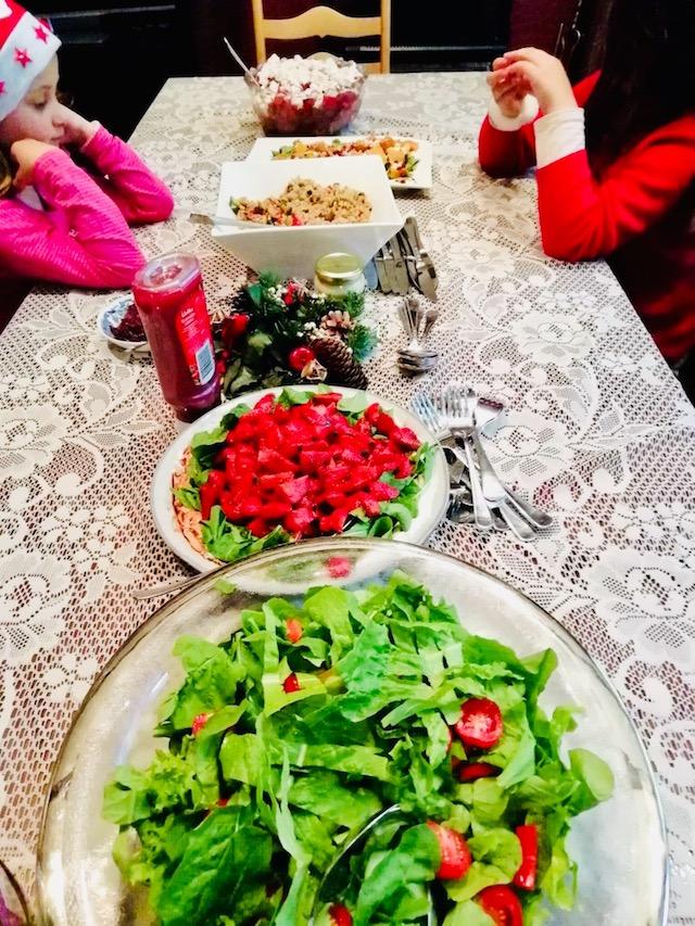 ニュージーランドのクリスマス食事の様子