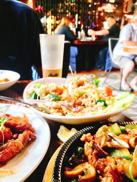 ニュージーランドダニーデンの美味しいタイレストランディナー