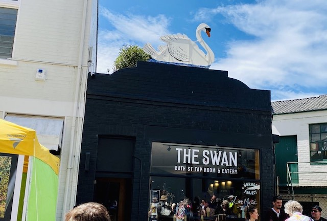 ダニーデンのおしゃれな隠れ家的カフェThe Swanのお店の様子