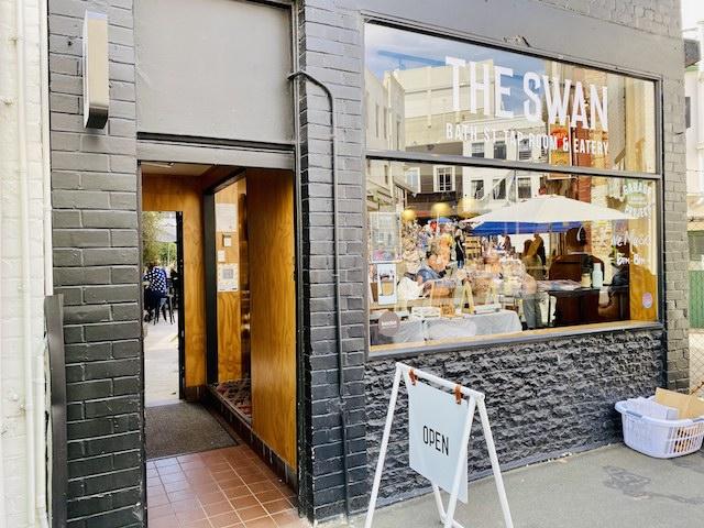 ニュージーランドダニーデンのおしゃれカフェThe SwanThe Swanの外観