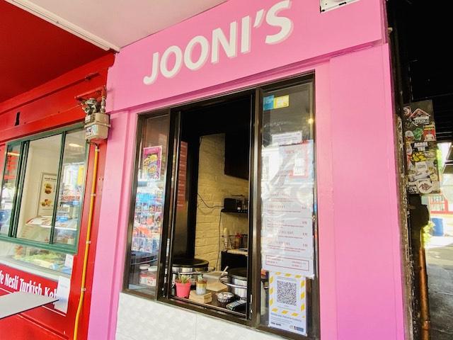 ダニーデンのクレープ屋さんJooni's Crepesのお店の様子